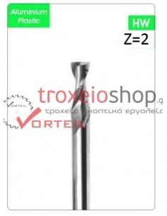 Ελικοειδή αλουμινίου και πλαστικών φινιρίσματος Z 2 κοντύλια καρβιδίου
