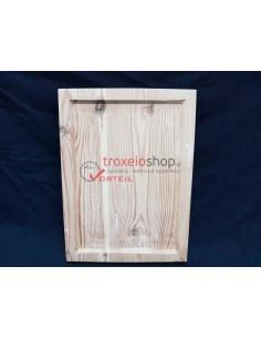 Ξύλο αγιογραφίας από φλαμούρι σκαφτό με 2 τρέσες στο πίσω μέρος