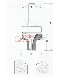 Ρούτερ μαχαίρι W17-28C
