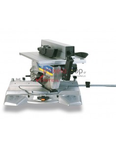 Tiltable mitre saw with upper table TM43L