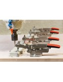 Horizontal toggle clamp with open arm and horizontal base plate STC-HH