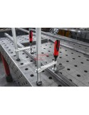 Clamping element for welding tables with plastic handle TW-2K
