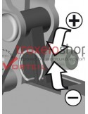 Vertical toggle clamp with open arm and horizontal base plate STC-VH