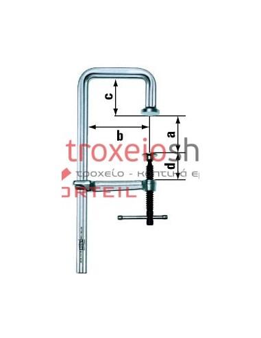 U-shaped all steel screw clamp GUZ BESSEY