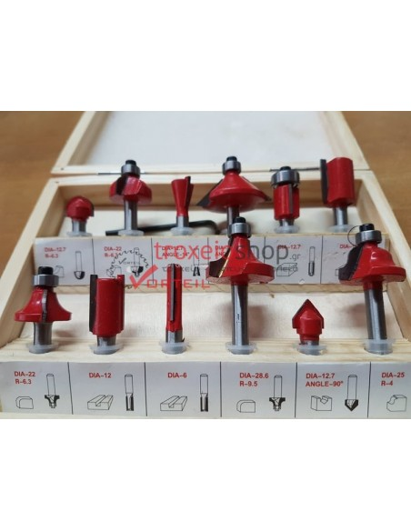 SET ROUTER 12 PIECES STAYER - 1.351