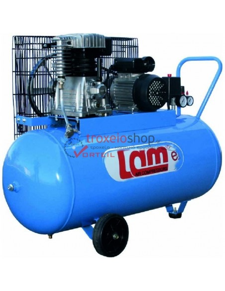 AIR compressor WITH TWO cylinder LAM 100lt 100/2M/EASY