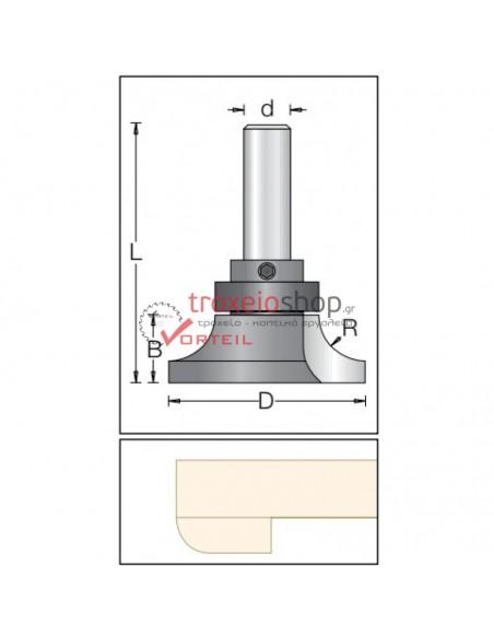 DIMAR CORIAN Inverted (under-cut) Round Over Bit 1592038