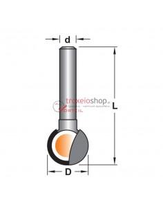 Plunge cutting ball router bit R015 Vorteil